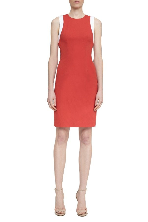 OnePointSix DEVON DRESS WATERMELON RED