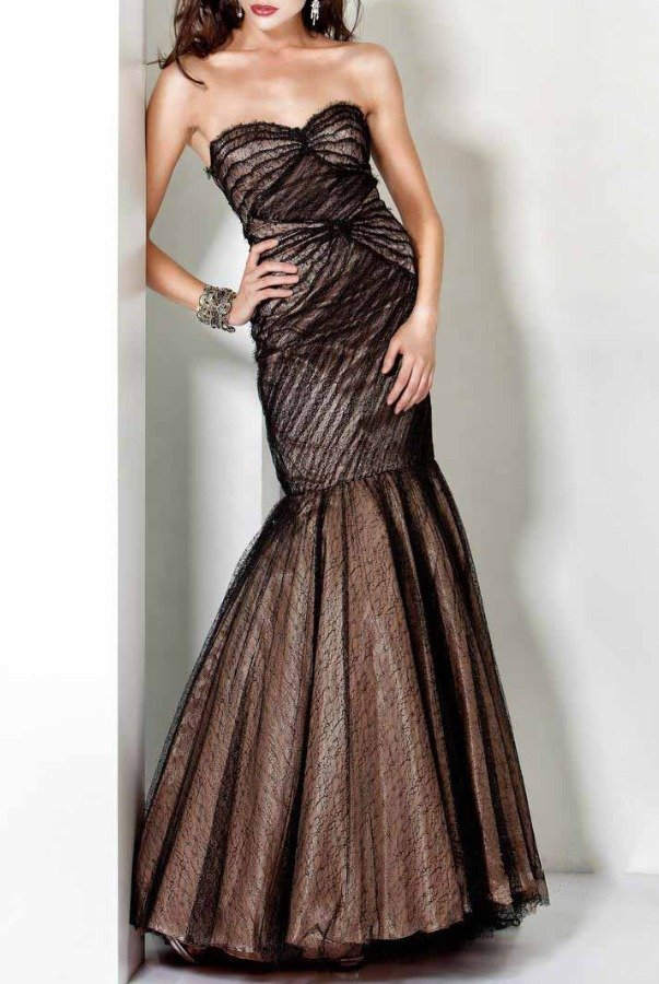 Jovani Strapless sweetheart neckline mermaid gown