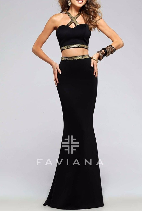 Faviana Magnificent Two Piece Dress 7736