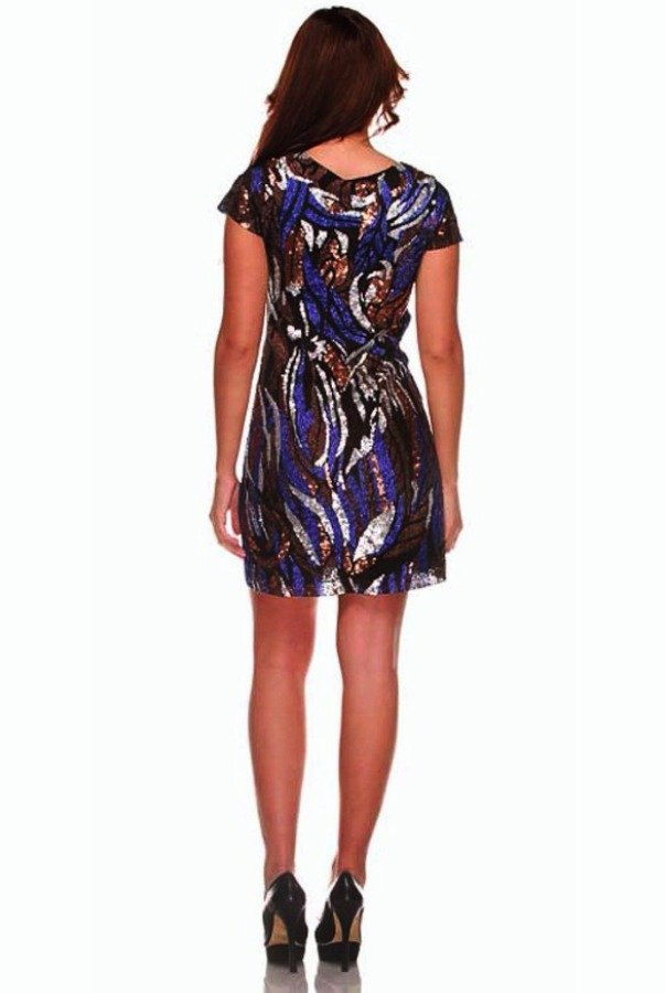 Farah Khan Sequin Cocktail Dress Swift