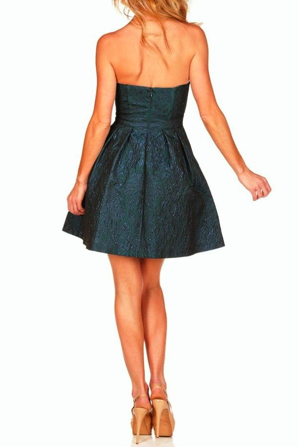 Aidan Mattox Jacquard Party Dress Metallic
