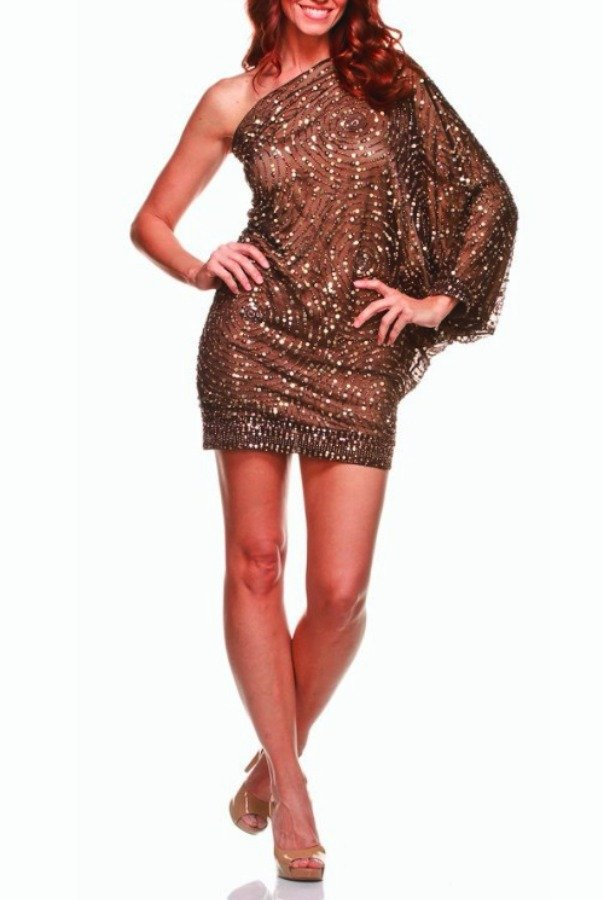 Farah Khan Cartier Bronze Sequin Dress