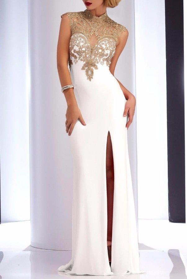 Clarisse Ivory Lace Sweetheart Gown 2803 Dress White