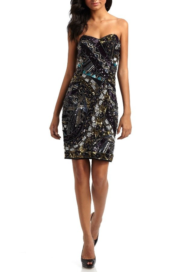 French Connection Carnival Strapless Sequin Dress