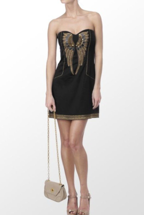 French Connection Iron Eagle Short Black Dress