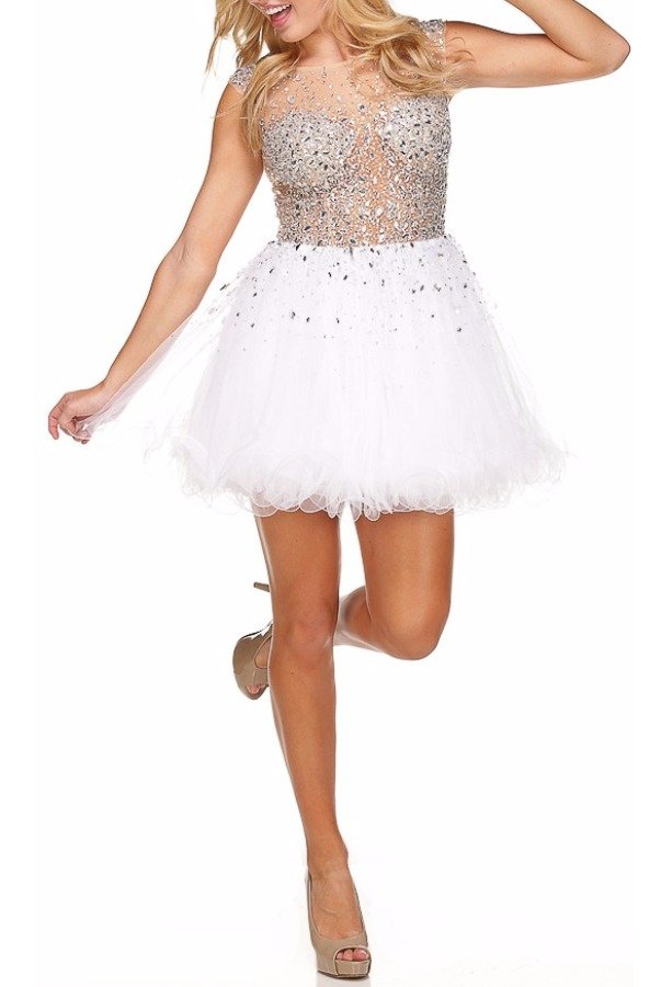 Jovani Chiffon Encrusted Princess Dress Homecoming Prom 79163