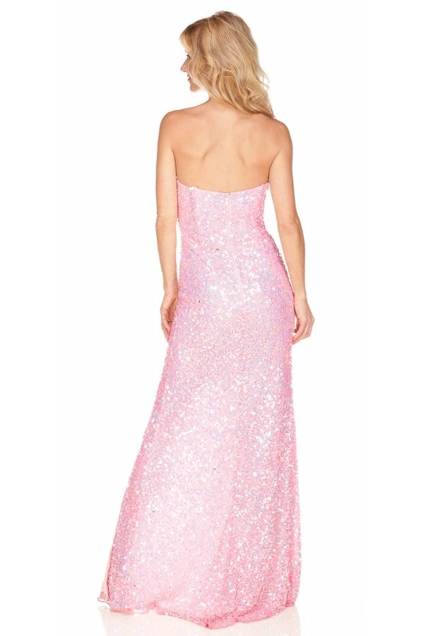 Primavera Soaring Pink Sequin Gown dress 9875