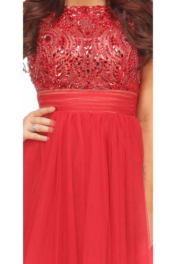 Sherri Hill Short Red Sparkle Dress Homecoming Open Back 11032