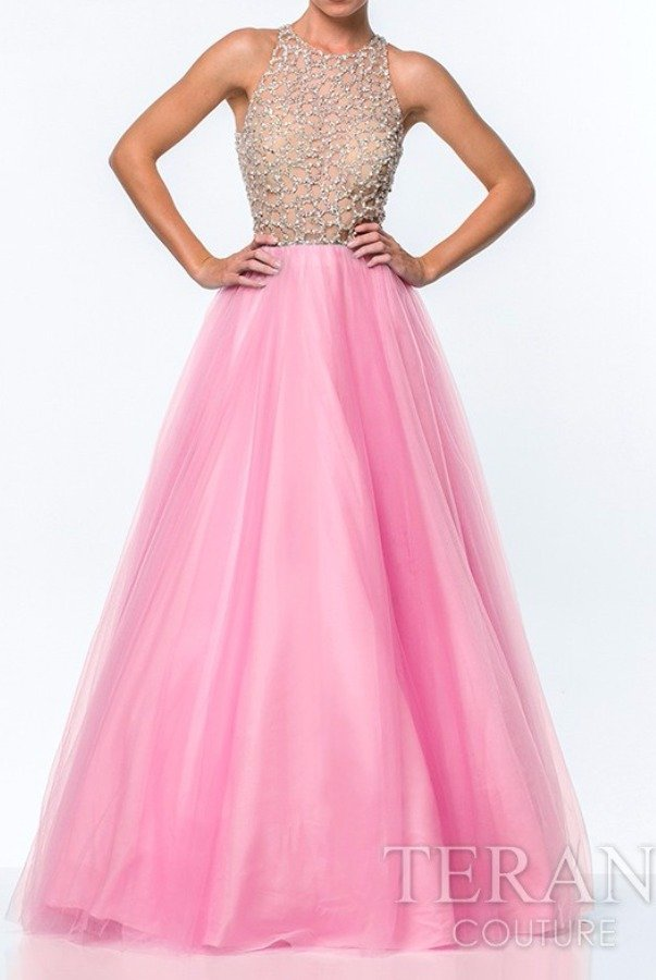 Terani Couture Dreamy Pink Tulle Ball Gown 151P0181