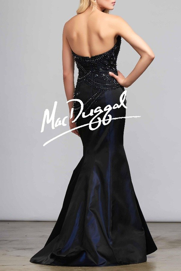 Mac Duggal   10050D Mermaid Nude Gown Dress Rhinestones