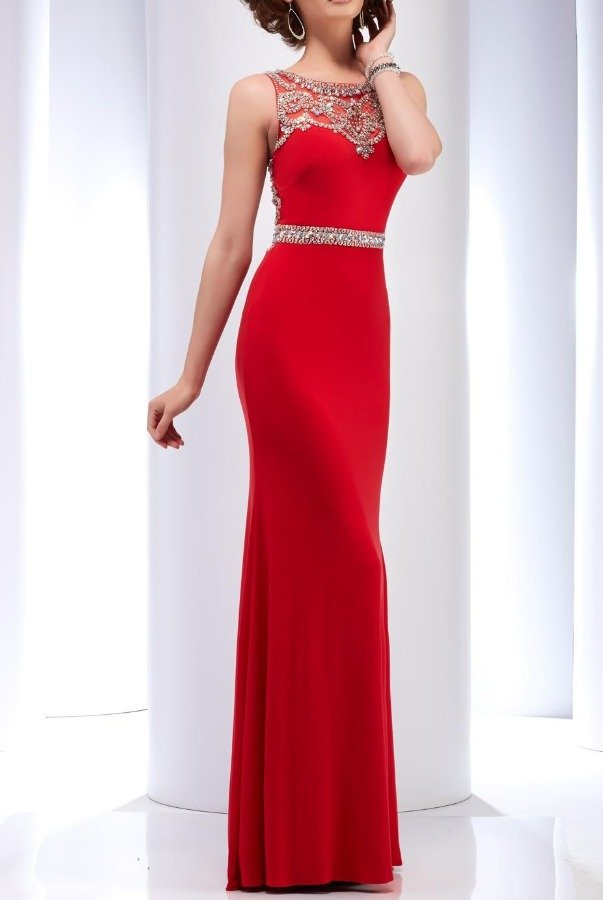 Clarisse 2527 Brilliantly Beaded Sleeveless Gown