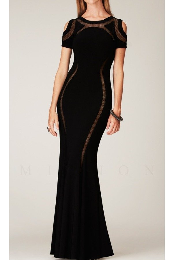 Mignon VM1207B Elegant Evening Black Dress Gown