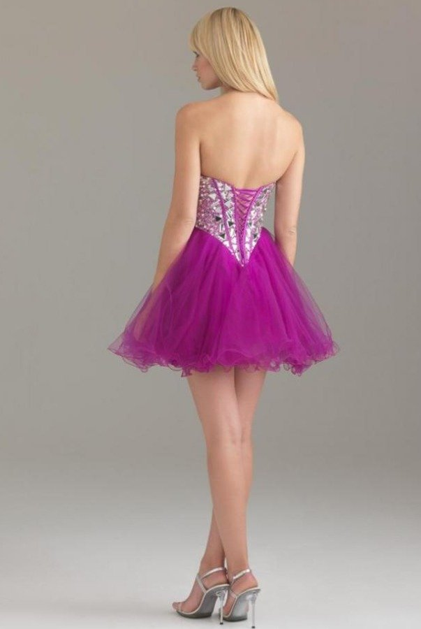 Allure 6410 Fun Fuchsia Dress