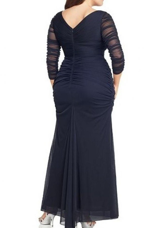 4bad0ce55e5 Adrianna Papell Plus Navy Beaded Mesh Gown
