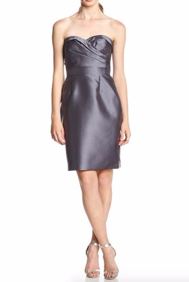 Adrianna Papell Strapless Sweetheart Cocktail Dress Bow Mikado