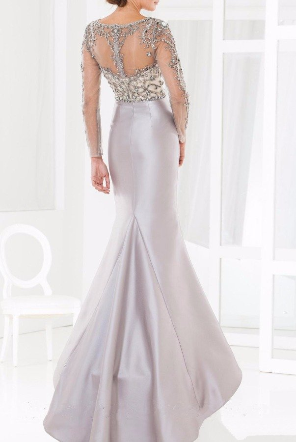 Terani Couture M3845 Beaded Illusion Evening Gown Mother of Bride