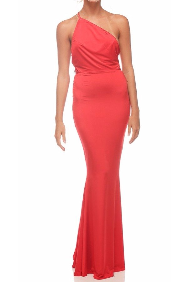 Abyss Jadore Open Back Gown in Red