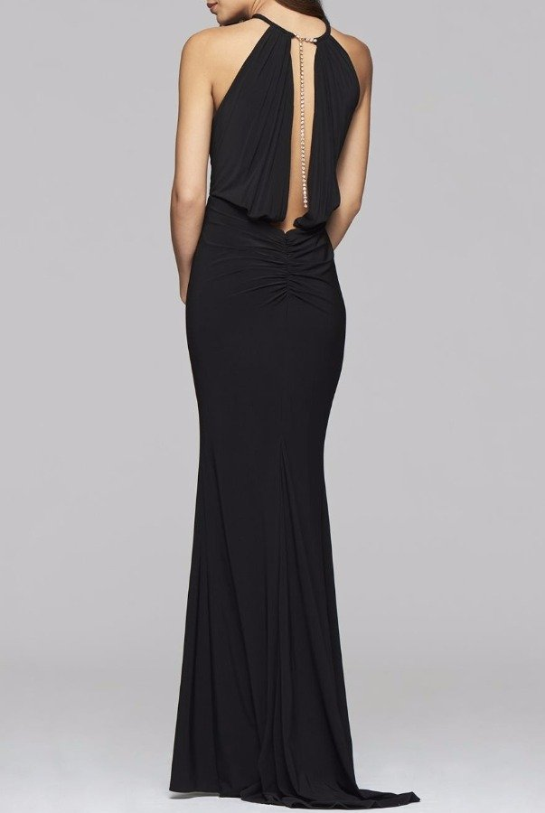 Faviana 7899 Refined Illusion Cutout Halter Gown dress