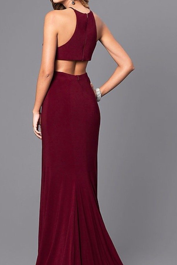 Faviana 7976 Svelte Evening Gown Dress in Burgundy