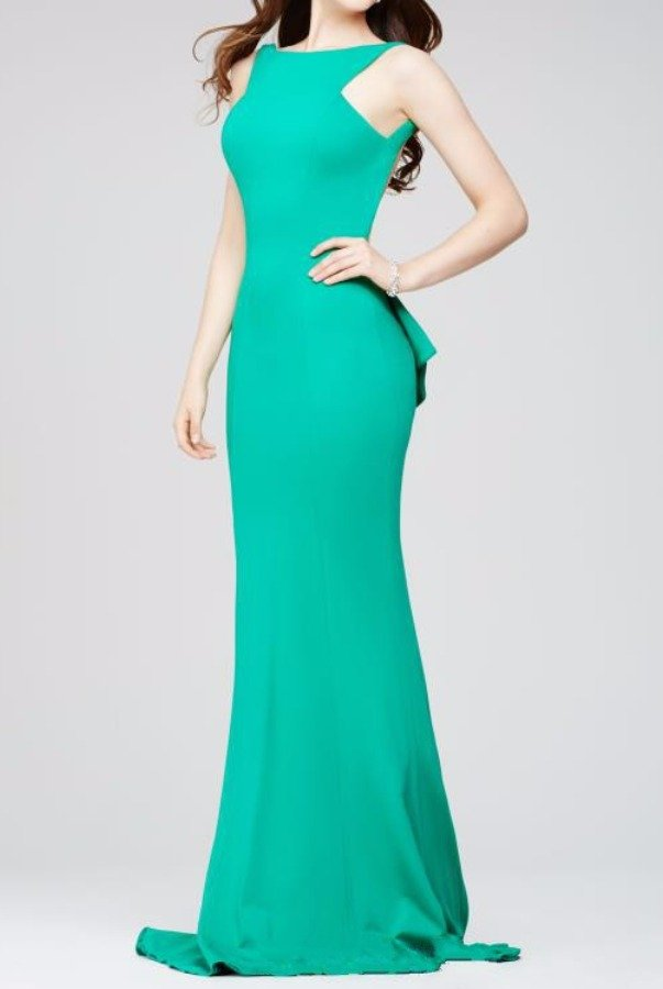 Jovani 32628 Green Sexy Open Back Mermaid Evening Dress