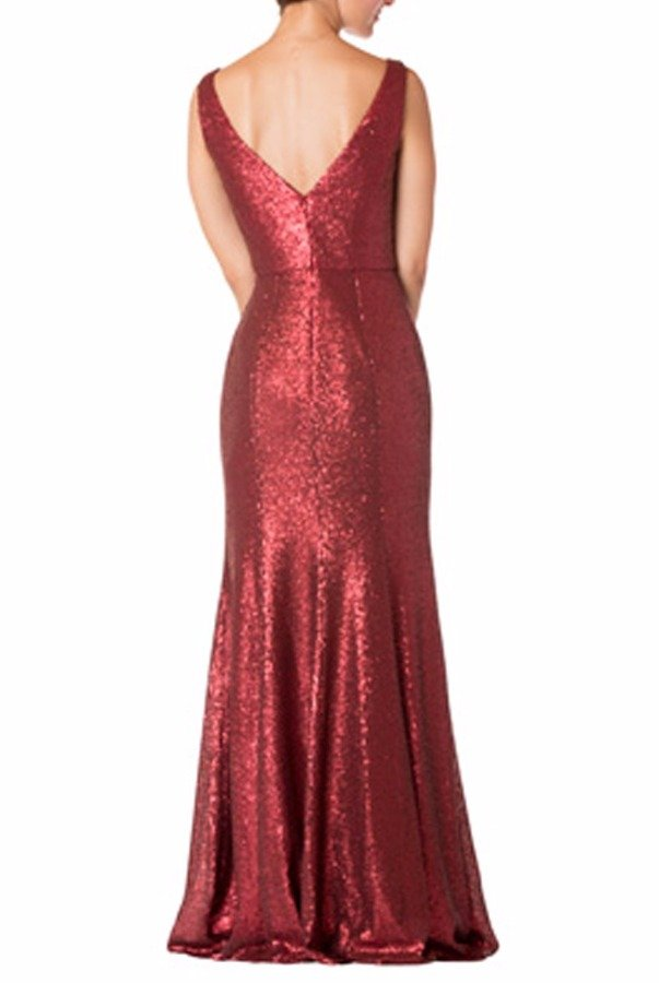 Shimmer Bari Jay 1729 Ruby Red Sequin Shimmering Gown