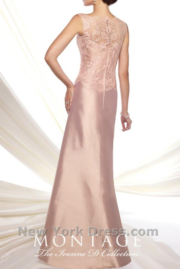 Ivonne D by Mon Cheri Silk and Lace detail gown in blush with bolero MOB