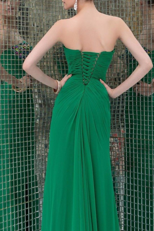 Angela and Alison 41090 Sparkling Strapless Evening Gown Green Dress