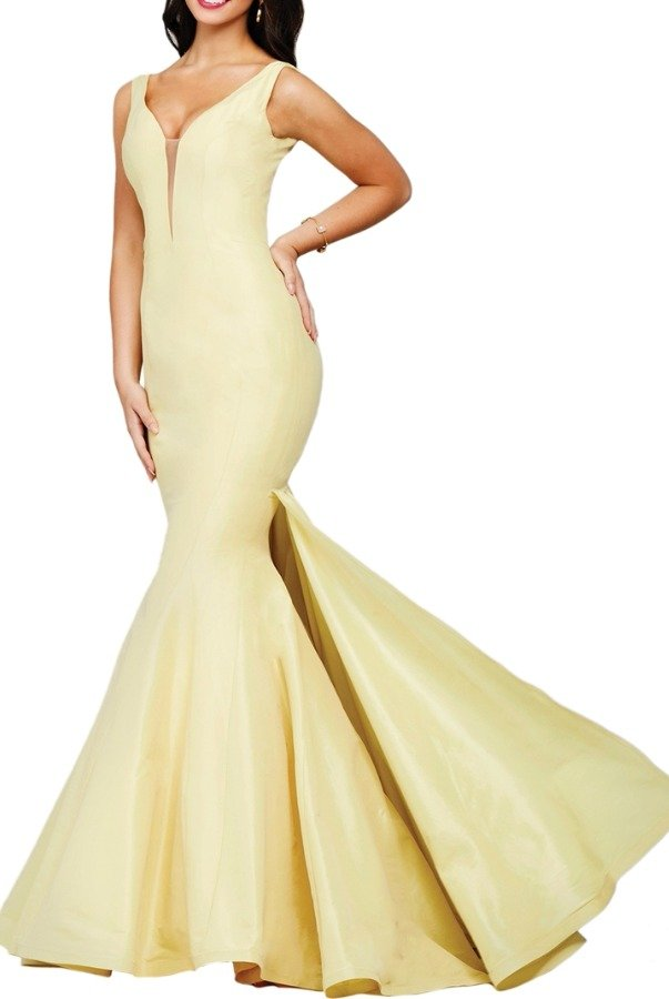 Jovani 32515 YELLOW MERMAID TAFFETA GOWN Prom Dress