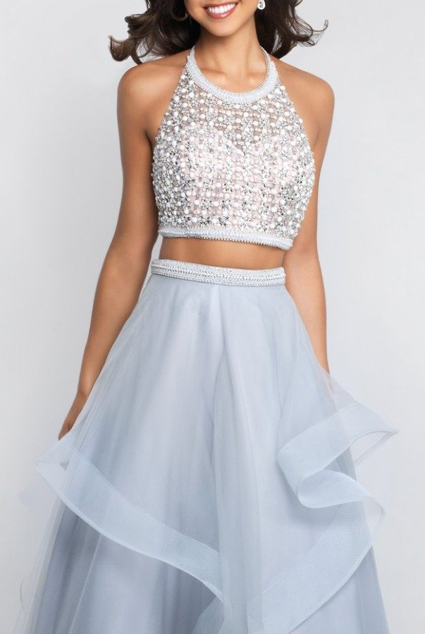 Blush Prom Two Piece Ball Gown