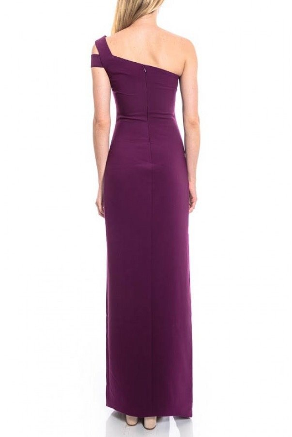 Likely Maxson One Shoulder Gown in Plum