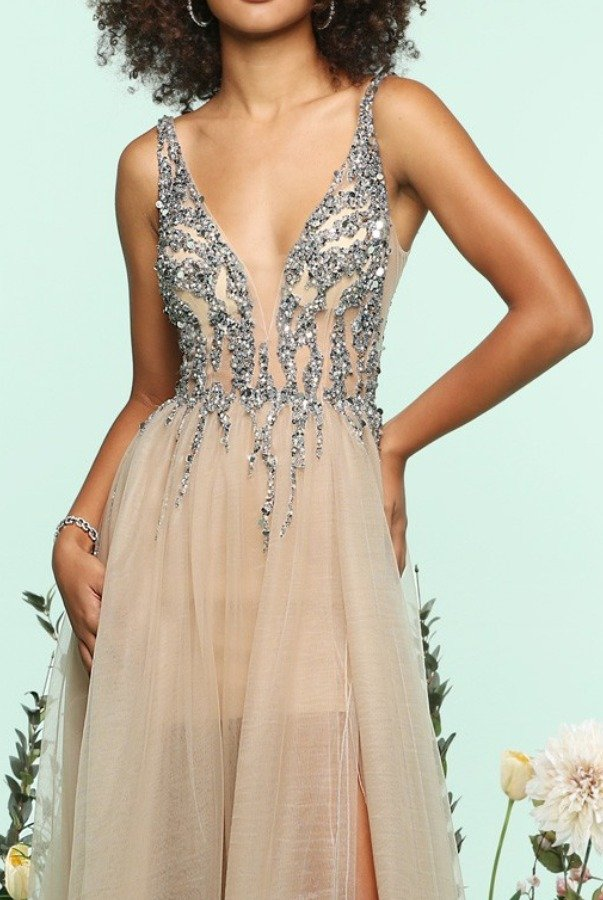 Zoey Grey Beaded Emma Tulle Ball Gown Prom Dress 31120