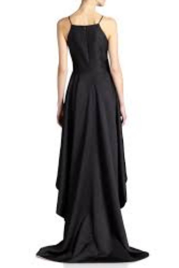 Nha Khanh Black High low Taelyn Evening Gown Prom Dress