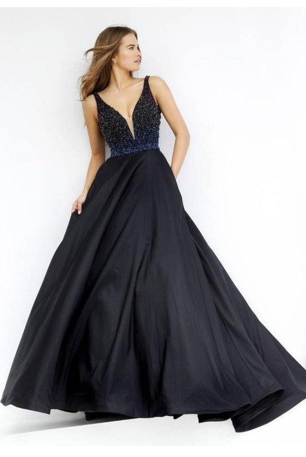 Sherri Hill Midnight Blue A Line Ball Gown Dress 32336 | Poshare