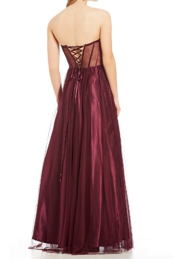 Blondie Nites  Strapless Embellished Corset Bodice Ball Gown