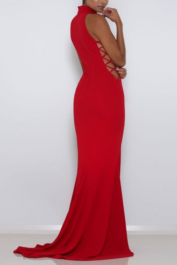 Abyss by Abby Red Kenya Gown Evening Dress