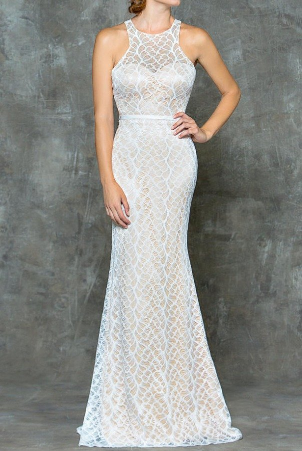 Colors Dress Off White LaceTrumpet Mermaid Wedding Gown Dress
