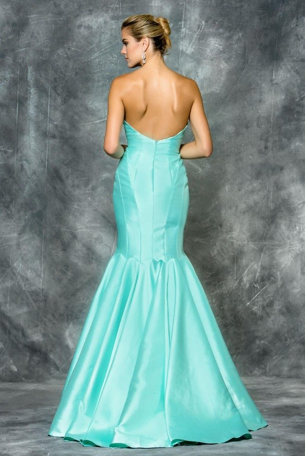 Colors Dress Blush Pink Strapless Mikado Mermaid Evening Gown