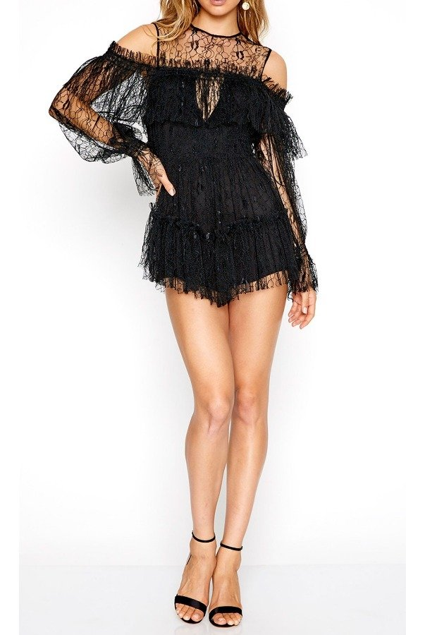 Alice McCall One in a million playsuit black lace
