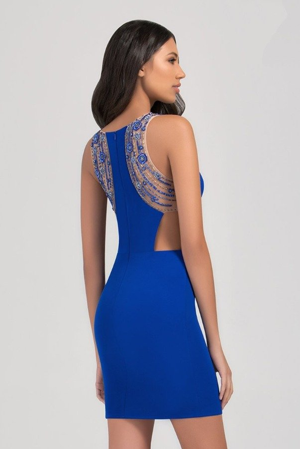 Val Stefani 3378RW Royal Blue Cocktail Party Dress