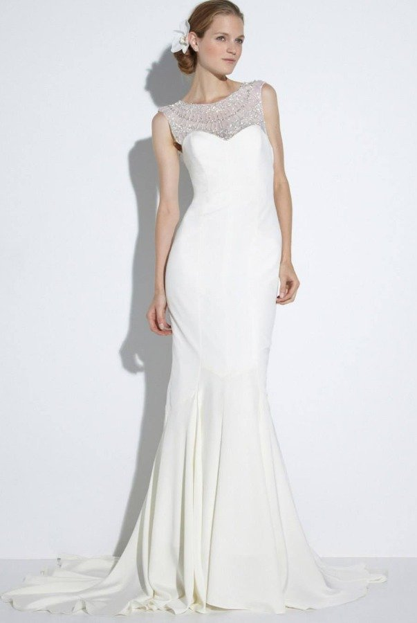 Nicole Miller White Beaded Lily Bridal Gown