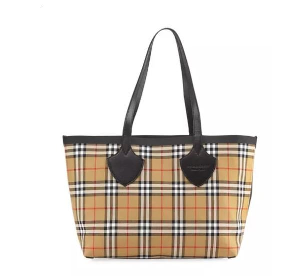 Burberry Reversible Canvas Check Tote