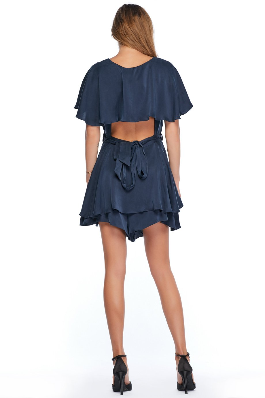 Zimmermann Wrap Blue Knee Length Romper