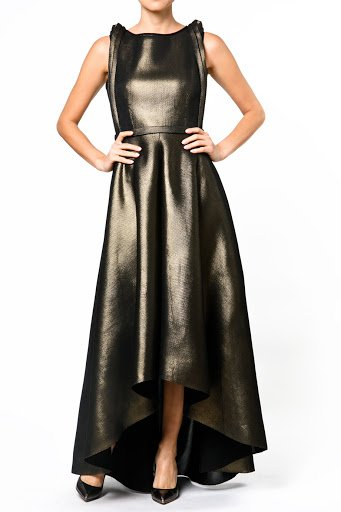 Nero by Jatin Varma Metallic Gold and Black Belted Gown