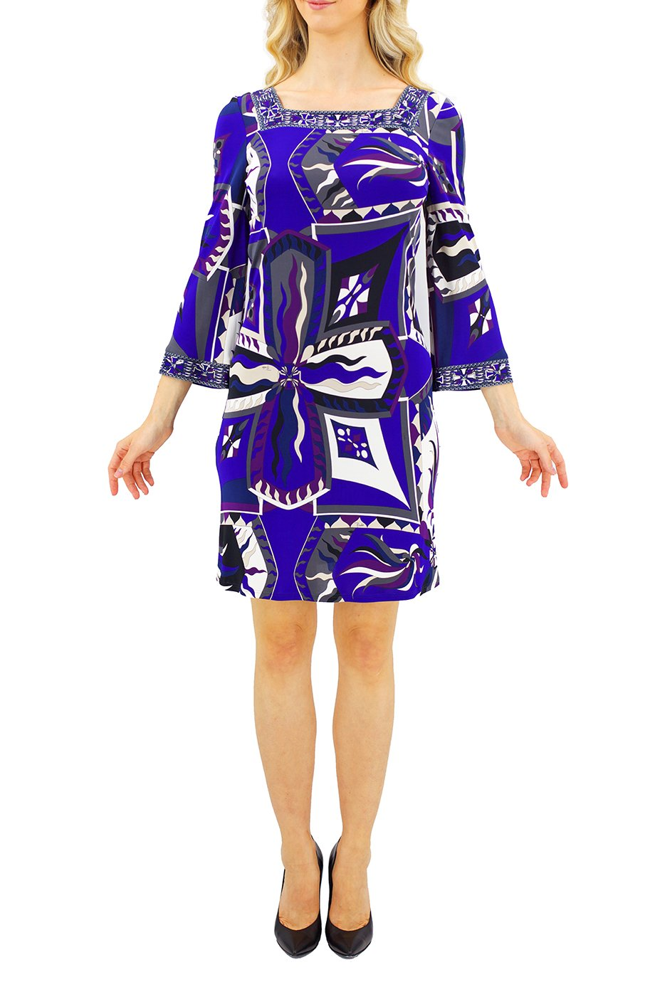 Emilio Pucci Purple Sunburst Print Bodycon  Dress