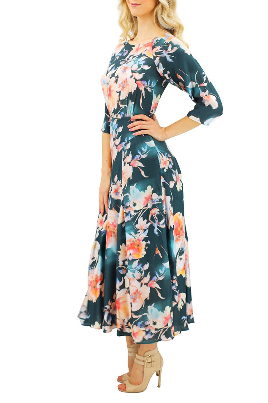 Paul and Joe Floral-Print Crepe De Chine Mid Sleeve Dress