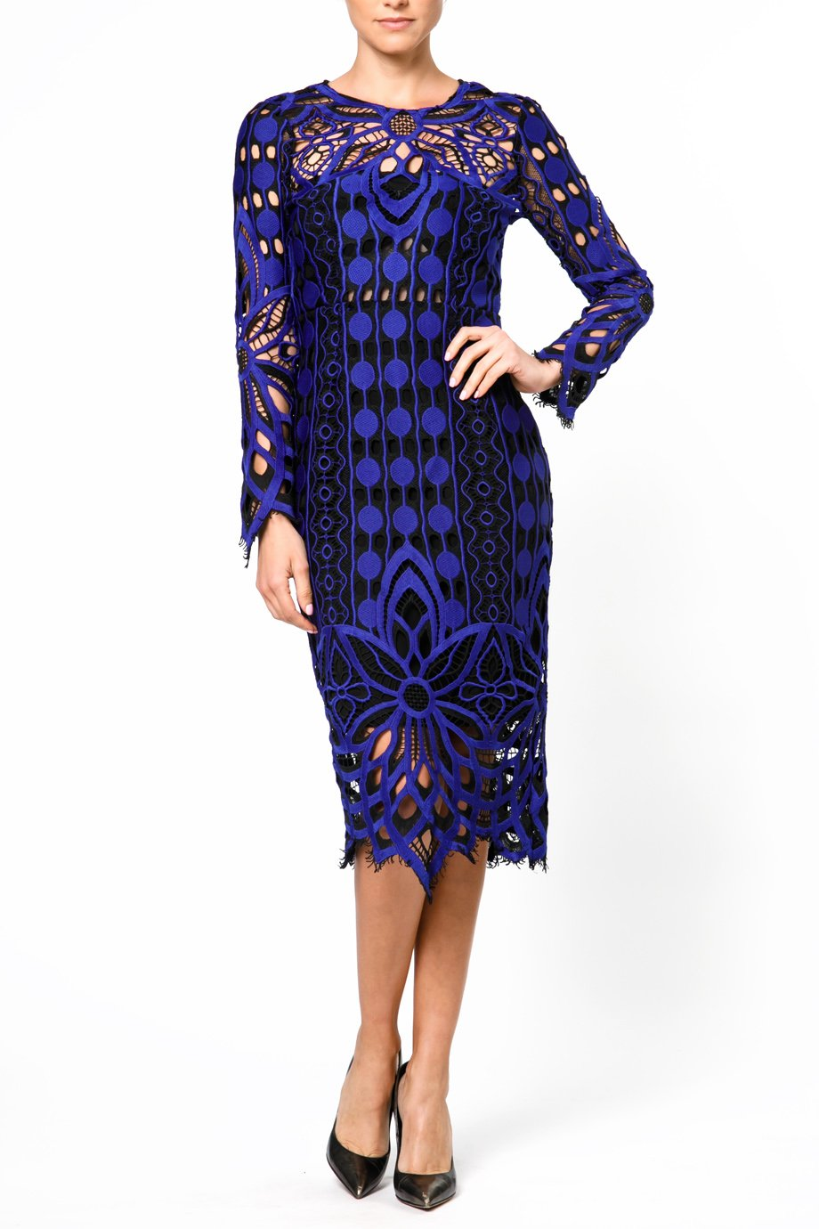 Thurley Floral Nightfall Lace Dress