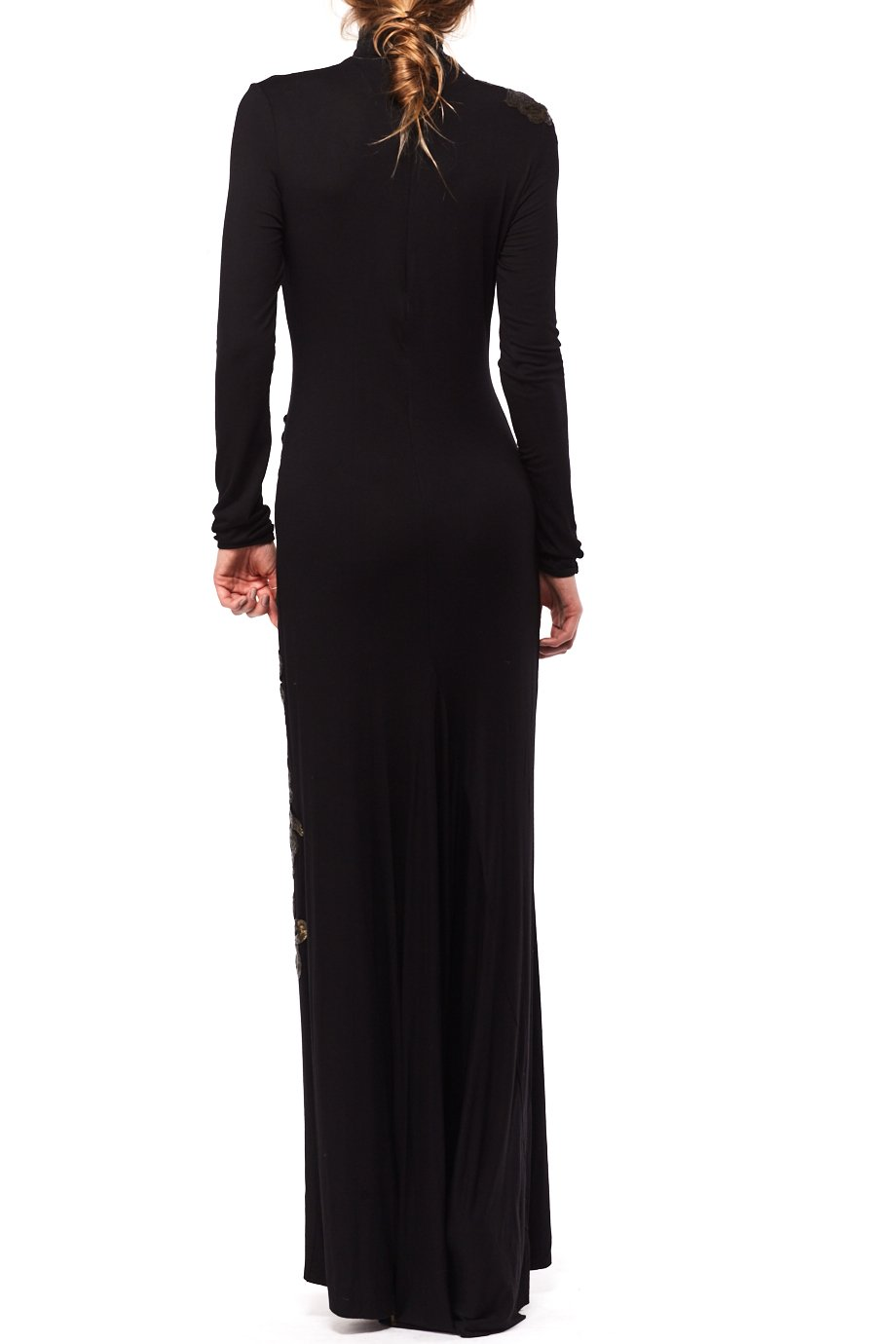 Denis Gagnon Black Sexy Body Con Fishtail Gown