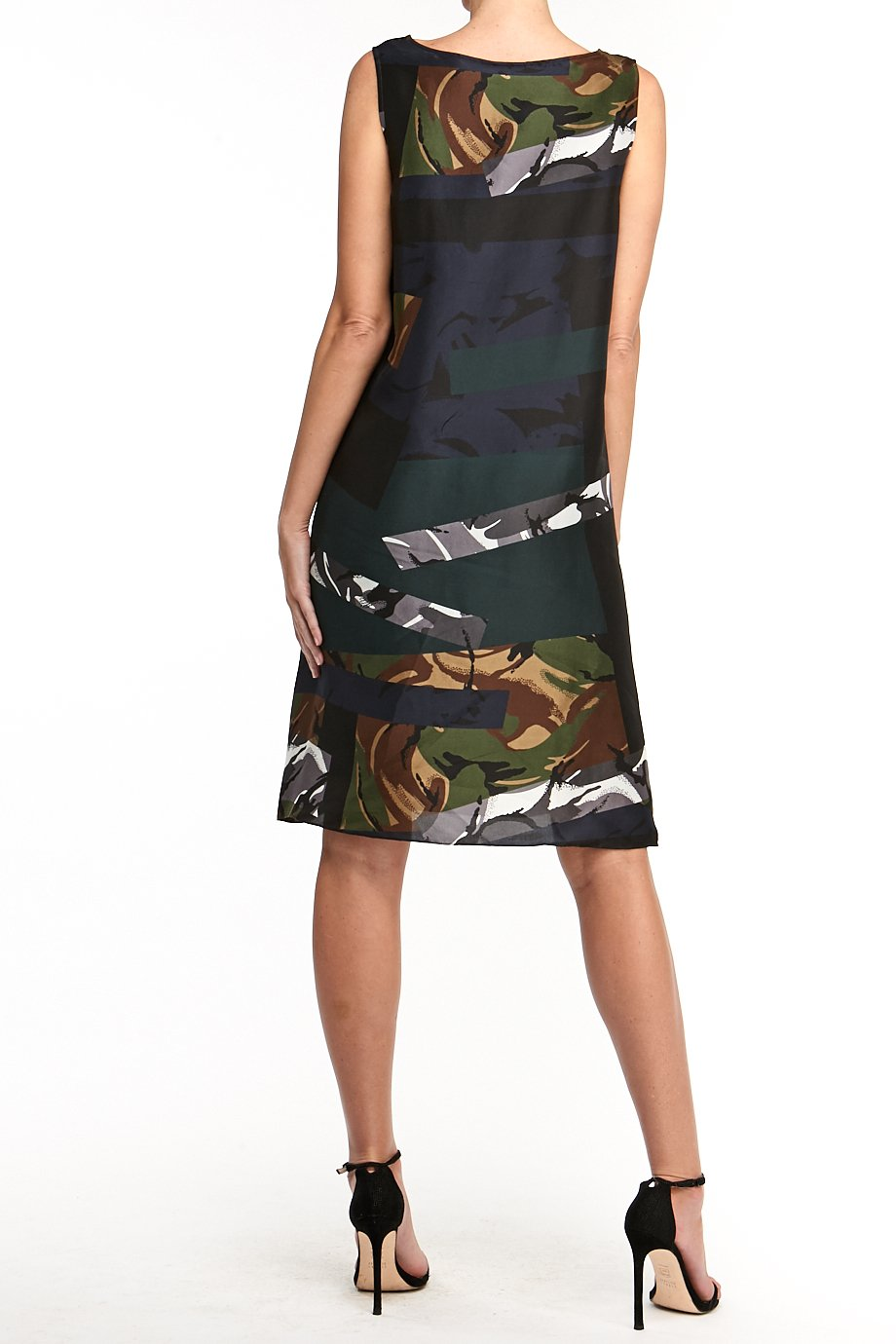 KENZO  Abstract Silk Sheath Mini Dress