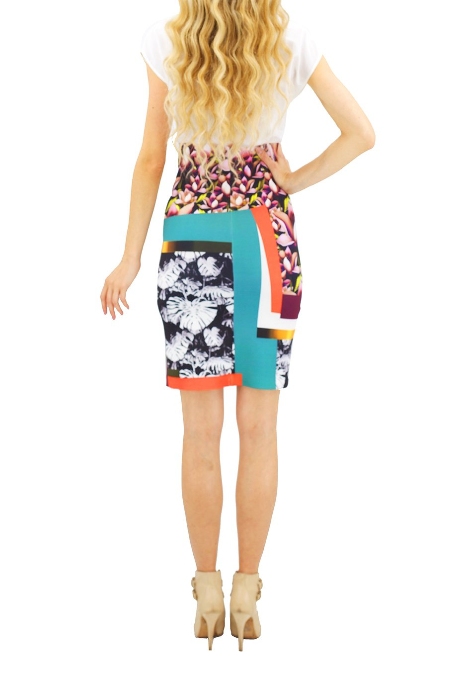 Clover Canyon Chrome Divide Solid Printed Combo Dress