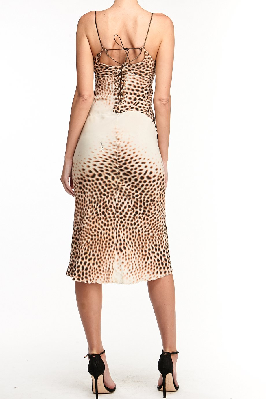 Just Cavalli Animal Print High Low Rope short dress